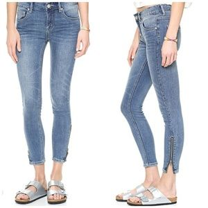 {27} Free People High Rise Skinny Zip Ankle Jeans